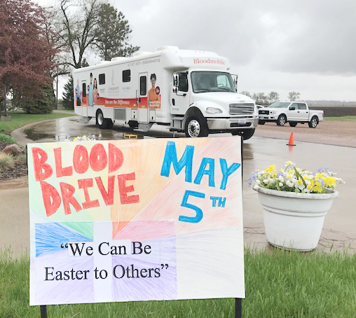 """<span style=""""font-size:11px;""""><span style=""""font-family:arial,helvetica,sans-serif;"""">Despite the rain, folks came out in full force, filling every time slot to donate blood May 5 at the Beaver Valley Lutheran-hosted blood drive. The blood drive ties in with the congregation's """"We Can Be Easter To Others"""" emphasis through the month of May. Pastor Greg Johnson commented that he was amazed how quickly the blood donation time slots were spoken for. """"People are sensing the need out there,"""" he said. <strong>Submitted photo</strong></span></span>"""