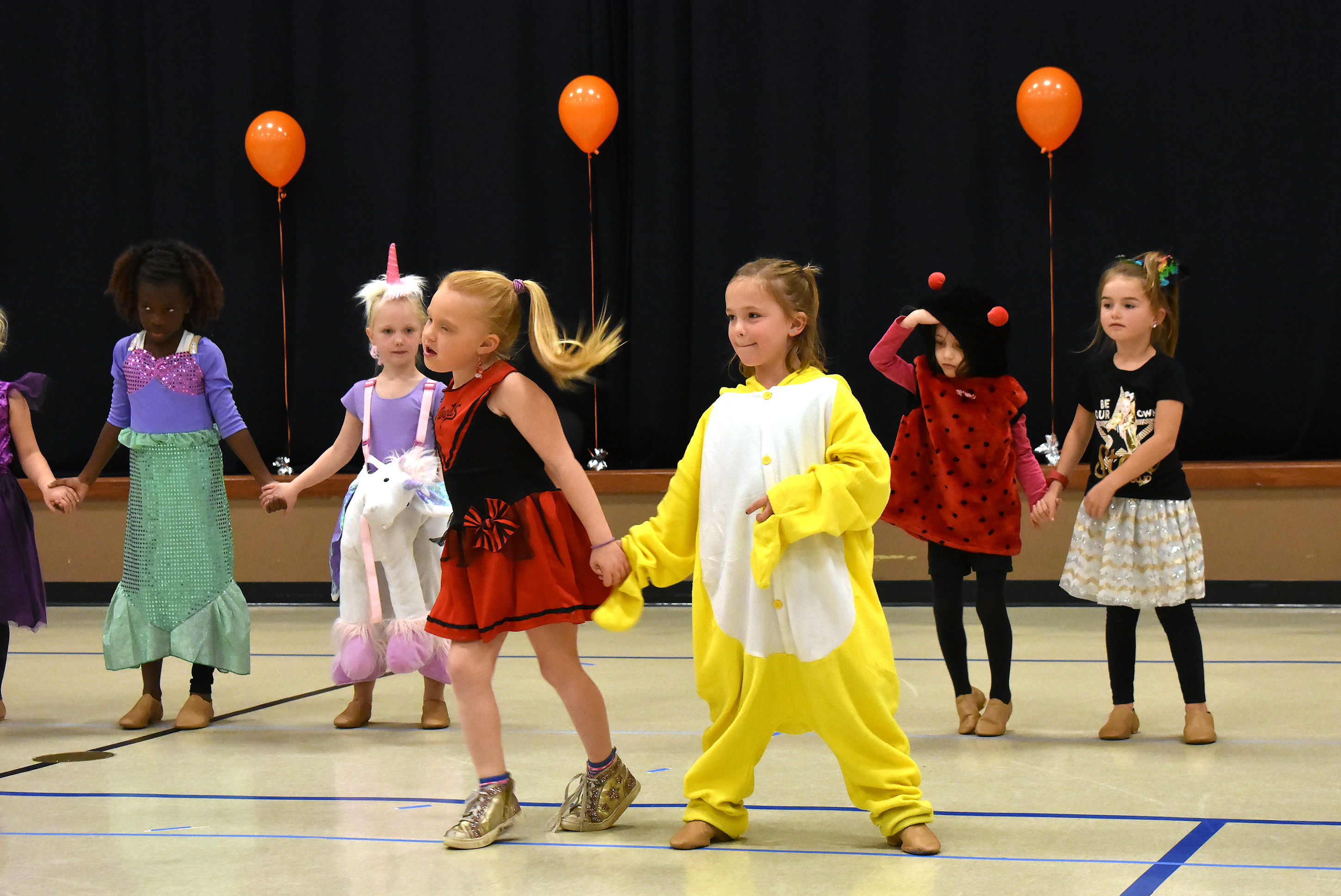 Little dancers in Brandon's Just for Kix program perform in their Halloween costumes last Friday for a packed house at Celebration United Methodist Church. <strong>Jamie Hult/BV Journal</strong>*/