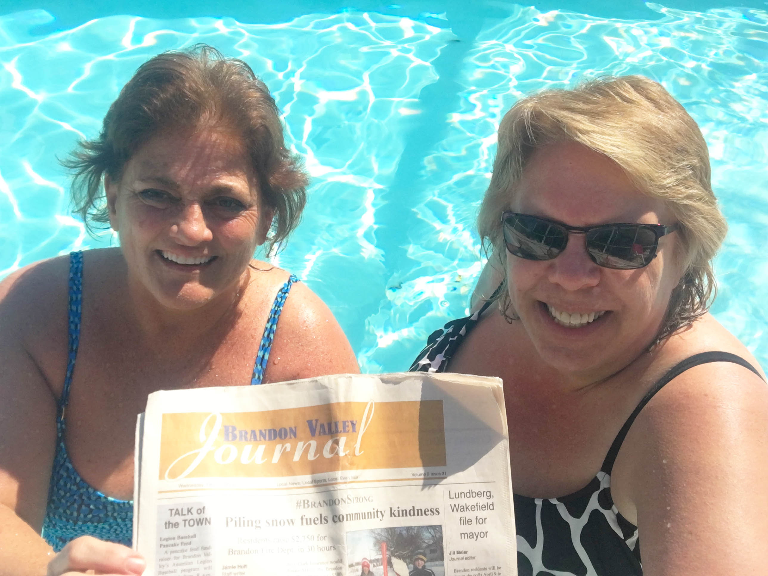 "<span class=""s1""><i>BV Journal </i>editor Jill Meier exchanged the South Dakota cold for Florida sunshine last week. The group of gals, including Holly Davis of Sioux Falls, enjoyed some pool time while their friends made a run to the grocery store. <strong>Submitted photo</strong></span>*/"