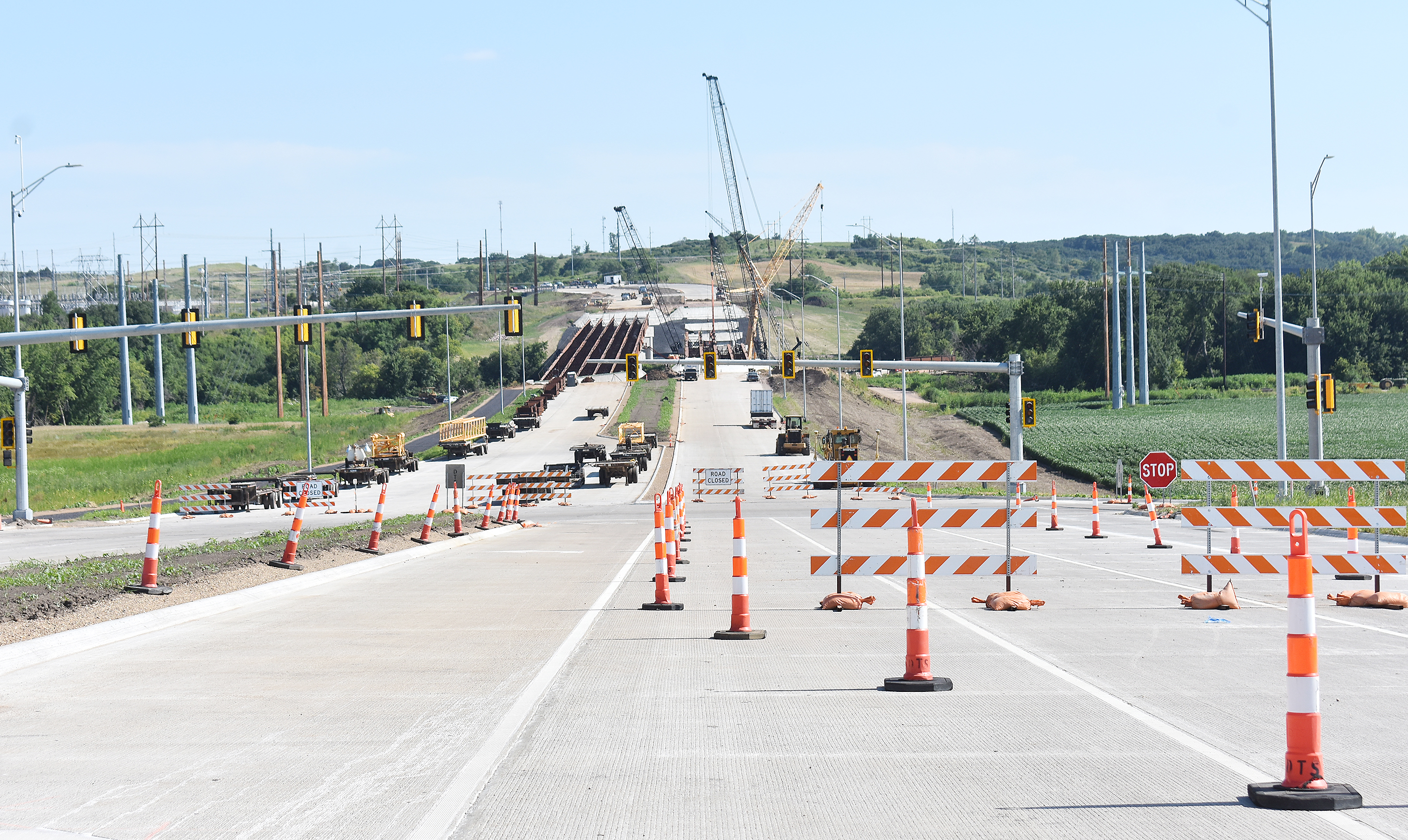 "<span style=""font-size:11px;""><span style=""font-family:arial,helvetica,sans-serif;"">Work continues on Veteran's Parkway near I-90 exit 402 last week. According to the South Dakota Department of Transportation, SDDOT has opened the new 60th Street as well as Veteran's Parkway (Hwy. 100) between I-90 and the new 60th Street. Lane closures will be in place to allow the contractor to complete remaining work in the center median and behind the curb in the outside lanes. Veteran's Parkway between Rice Street and the new 60th Street is anticipated to be complete and open to traffic by the end of 2020.<span class=""Apple-converted-space""> <strong>Jamie Hult/BV Journal</strong></span></span></span>"