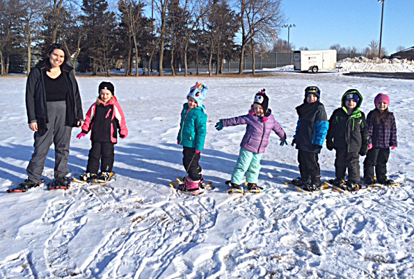 "*/Youngsters from Brandon Lutheran's Noah's Ark Preschool tried out snow shoes last week.<span class=""Apple-converted-space""> <strong>Submitted photo.</strong></span>"