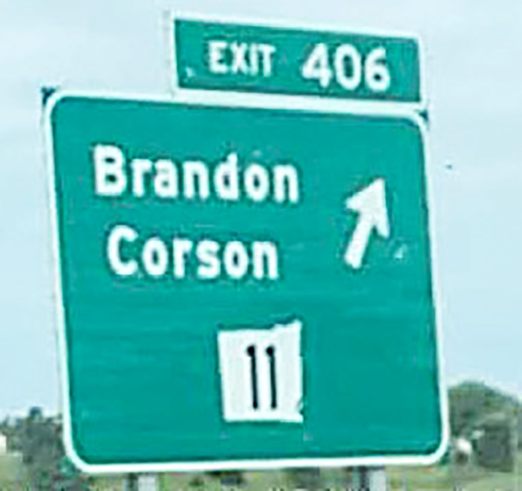 "<span class=""s1"">This photo – and tag line - ""You had one job,"" popped up on local Facebook pages over the weekend. The sign correctly steers drivers off of Interstate 90 at Exit 406 to Brandon or Corson. but look closely at the sign to discover exactly what's wrong with this sign. Then, roll your eyes and giggle. <strong>Submitted photo</strong></span>*/"