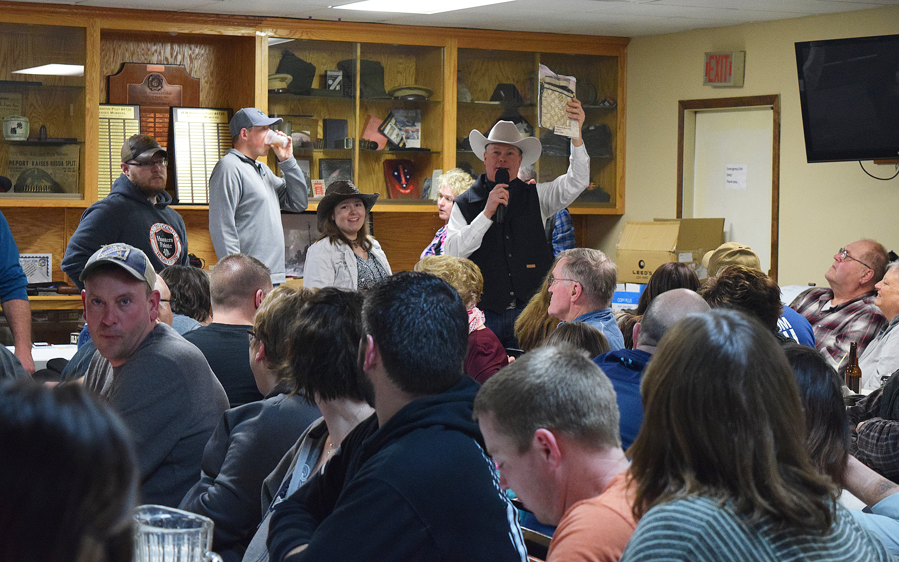 */It was another successful year for the Ed Polzine Youth Cancer Fund Wild Game Feed. An estimated 200 people dined on more than 400 pounds of elk, antelope, venison, halibut, alligator and the like, supported silent and live auctions and raffles Saturday at the Brandon VFW. As always, proceeds from the 34th annual event will be shared with local children who have cancer and other life-impacting events. <strong>Jill Meier/BV Journal</strong>